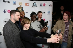 Plan B MNEK and Will Kennard from Chase & Status at the launch of The Big Music Project