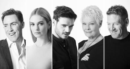 Rob Brydon, Lily James, Richard Madden, Judi Dench and Kenneth Branagh. Kenneth Branagh Theatre Company. Credit Johan Persson (12)