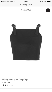 Crop Top - Topshop £20.00