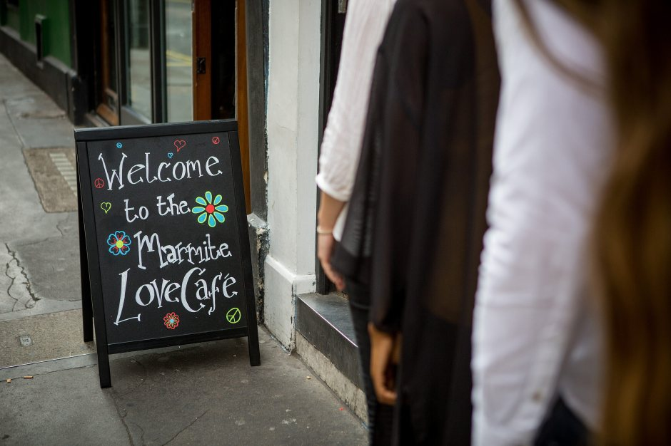 The Marmite Love Cafe at Soho Grind