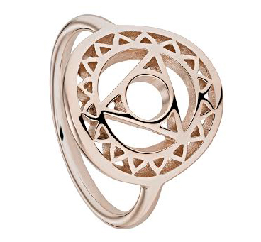 Daisy  Throat Chakra Ring in Rose Gold