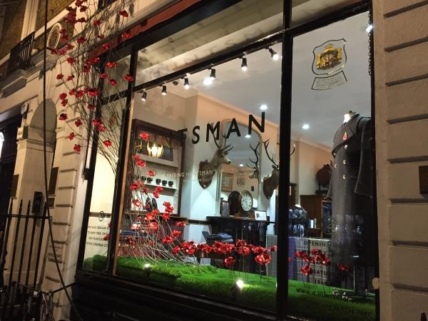 Huntsman Poppies Window