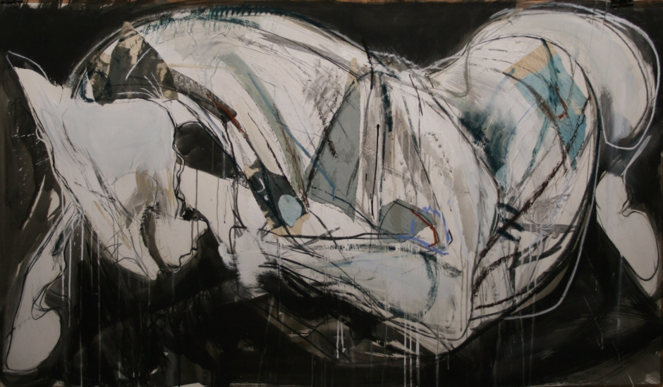Jo Taylor, The Ships Horse, 86x150cm, Mixed media on paper