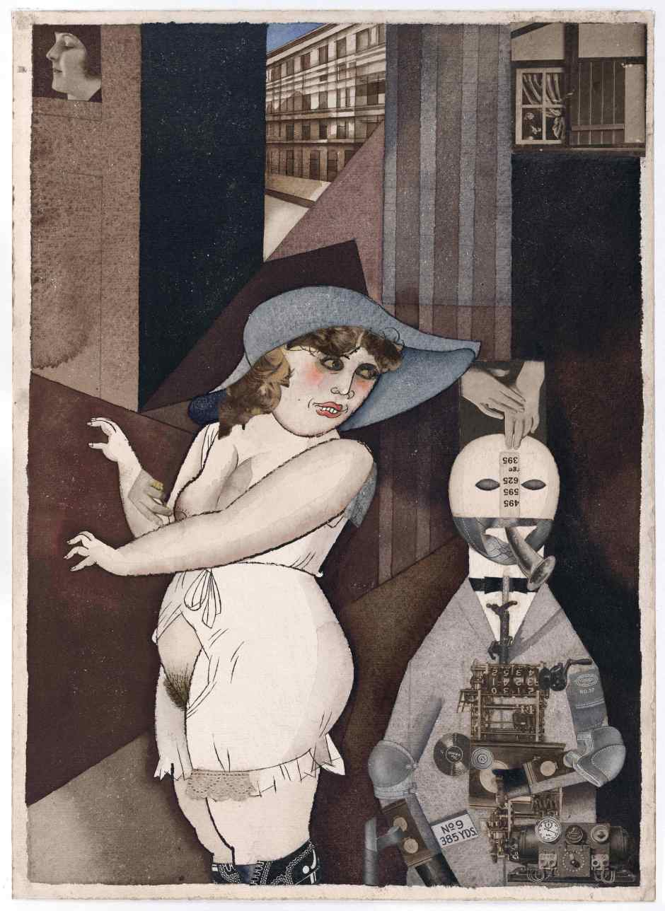 "George Grosz - ""Daum"" Marries her Pedantic Automaton ""George"" 1920"
